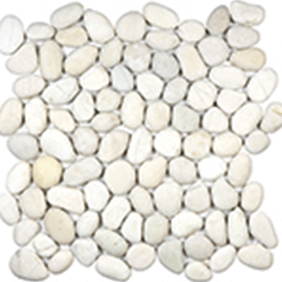 Serenity Ivory Natural Pebble Mosaics