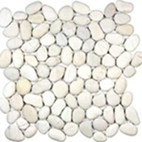 Serenity Ivory Natural Pebble Mosaics